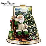 Thomas Kinkade An Irish Night Before Christmas Tabletop Talking Santa Centerpiece