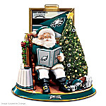 NFL Philadelphia Eagles Illuminated Talking Santa Tabletop Centerpiece