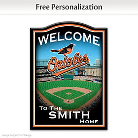 Baltimore Orioles Personalized Welcome Sign