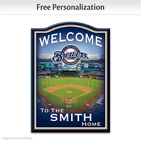 Milwaukee Brewers Personalized Welcome Sign