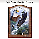 Bald Eagle Personalized Welcome Sign
