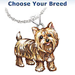 Dog Lovers Diamond Pendant Necklace: Playful Pup