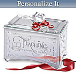 Personalized Mirrored Music Box: Teaching Is A Work Of Heart
