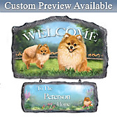 Lovable Pomeranians Personalized Wall Decor