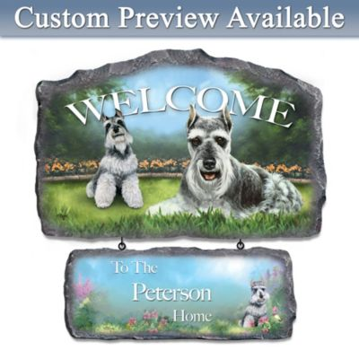 Schnauzer Personalized Welcome Sign