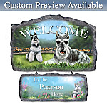 Lovable Schnauzers Personalized Welcome Sign Wall Decor