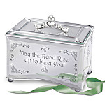 Irish Mirrored Music Box: Reflections Of An Irish Blessing