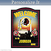 Washington Redskins Personalized Welcome Sign