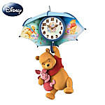 Wall Clock: Pooh And Piglet Blustery Days Wall Clock