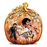 Elvis Taking' Care Of Halloween Pumpkin Sculpture