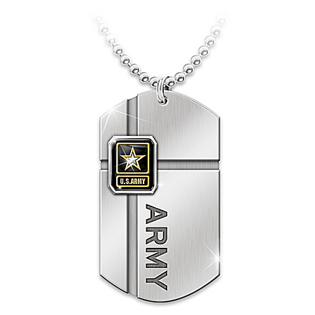 Army Dog Tag Pendant Necklace: For My Soldier