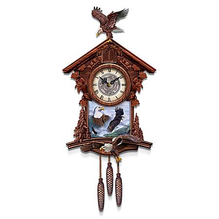 Cuckoo Clock With Al Agnew Eagle Art And Sculptural Eagles