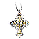 Irish Blessings Cross Pendant Necklace