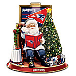 NFL New England Patriots Talking Santa Claus Tabletop Centerpiece