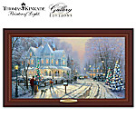 Christmas Decoration Thomas Kinkade Authentic Canvas Print: A Holiday Gathering