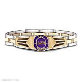 LSU Tigers Stainless Steel Men's Bracelet