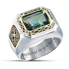 The Legend Of Ireland Mystic Topaz Ring