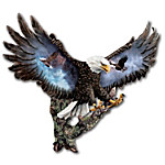 Imagine misty clouds, soaring mountains - the crisp air is rent by the piercing call of a bald eagle as soars above you! Now, your dramatic visions come to life with this collectible eagle wall sculpture, featuring stunning eagle portraits by acclaimed wildlife artist Ted Blaylock. This impressive work of 3D wall decor art portrays a magnificent eagle landing on a moss-covered limb. His widespread wings showcase Mr. Blaylock's vivid bald eagle portraits in a truly unforgettable presentation! This exclusive, limited-edition collectible eagle wall sculpture from the Bradford Exchange is carefully handcrafted and hand-painted, making yours a one-of-a-kind masterpiece. A dramatic display anywhere in your home, or an extraordinary bald eagle gift for someone who appreciates the beauty of nature - order now!
