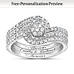 Valentines Gifts Personalized Women's Diamond Ring: The Story Of Our Love