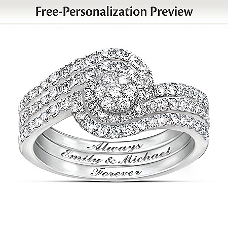 Personalized Women's Diamond Ring: The Story Of Our Love