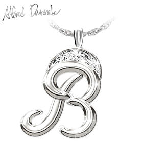 Alfred Durante Diamond Signature Pendant Necklace
