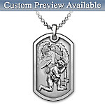 Bless This Soldier Pendant Necklace