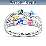 Personalized Birthstone Ring: My Family, My Pride, My Joy
