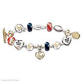 Go Texans #1 Fan Charm Bracelet