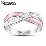 Reflections Of Hope Breast Cancer Support Diamonesk Ring