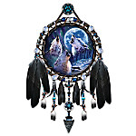 Wolf Decor Dreamcatcher Collector Plate: Wolf Songs