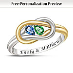 Womens Ring: Lovers Knot Personalized Ring
