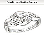 Women's Ring: Cascade Of Love Personalized Diamond Ring