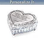 Personalized Crystal Music Box: My Granddaughter, I Love You Always
