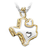 Texas Girl At Heart Pendant Necklace