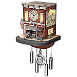 Cuckoo Clock: Freedom Choppers Motorcycle Garage Cuckoo Clock