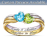 Womens Ring: Together In Love Personalized Ring