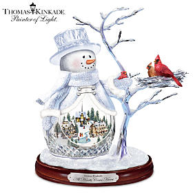 Thomas Kinkade All Hearts Come Home Sculpture