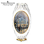 "Thomas Kinkade ""A Peaceful Winter's Glow"" Candle Holder"