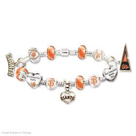 Go Giants! #1 Fan Charm Bracelet