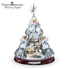 Thomas Kinkade Blessings Of The Season Tabletop Tree