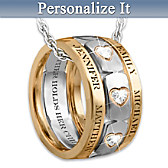 Mom's Forever Love Personalized Pendant Necklace