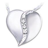 I Love You Mom Diamond Pendant Necklace