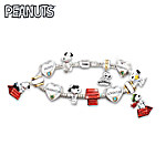 Womens Bracelet: The Adventures Of Snoopy Charm Bracelet
