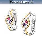 Womens Earrings: Wrapped In Love Personalized Earrings
