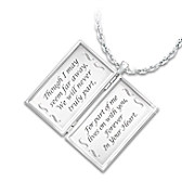 Message From Heaven Diamond Pendant Necklace