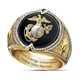 Honor, Courage And Commitment Ring