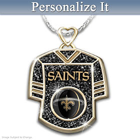 Get In The Game Saints Personalized Pendant Necklace