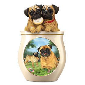 Cookie Capers: The Pug Cookie Jar