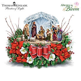 Thomas Kinkade O Holy Night Table Centerpiece