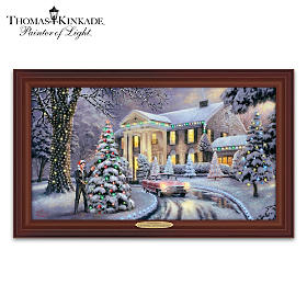 Thomas Kinkade Christmas At Graceland Wall Decor